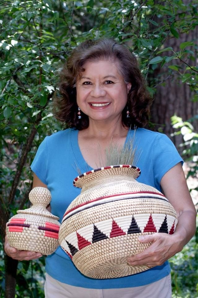 Tribal elder, Gladys Celestine Shutt of the Kowi or Panther Clan, is a proud member of the Alabama-Coushatta Tribe of Texas. She will be exhibiting and selling her baskets on July 19th from 8am till 5pm.