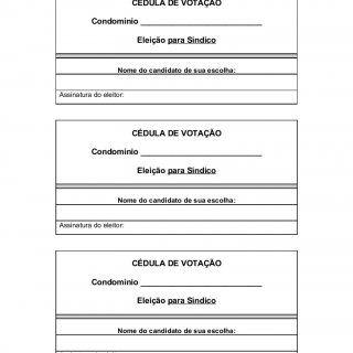 MODELO 01 CÉDULA DE VOTAÇÃO Condomínio ___________________________ Eleição para Síndico Nome do candidato de sua escolha:Assinatura do eleitor: CÉDULA DE VO. http://slidehot.com/resources/cedula-para-votacao-de-eleicao-de-sindico.11462/