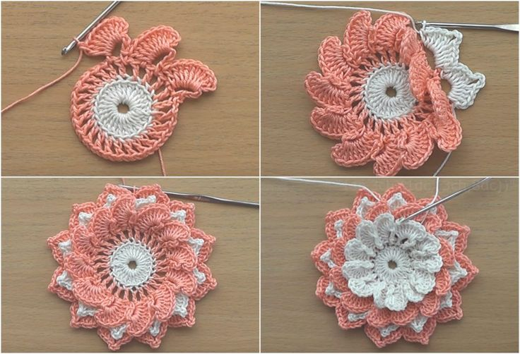 Crochet Flowers Tutorial