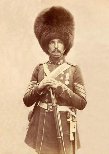 c1856 Crimean War Sergeant Powell Grenadier Guards Photograph