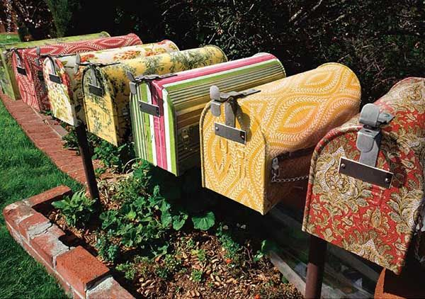 decorative-mailbox-ideas (4)- Wallpaper Samples repurposed