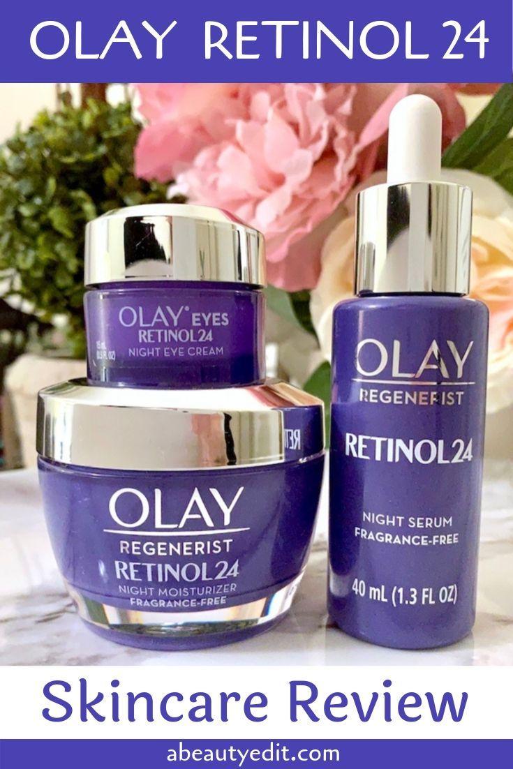 Olay Retinol 24 Night Serum Eye Cream Moisturizer Skincare Review Eye Cream Anti Aging Moisturizer Olay