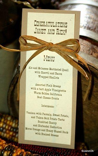 western menu card idea