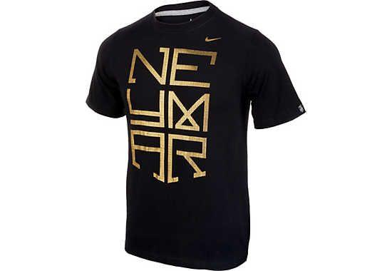 Nike Neymar Kids Logo Tee - Black...at SoccerPro.