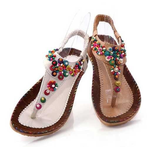 2017 Summer New Women's Fashion Sandals Lovely Bohemia Stlye Wear-resisting  Women Slipper Plus Size