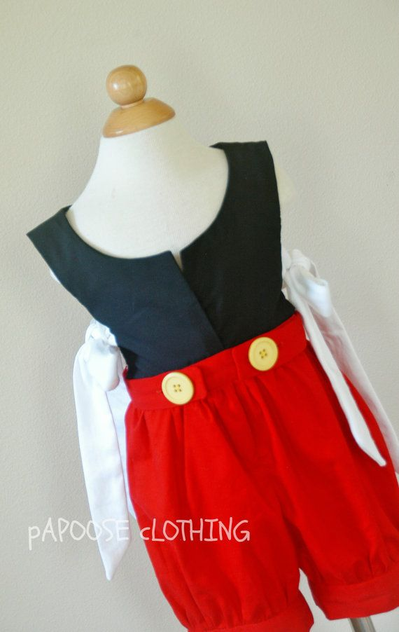 Mouse Character Inspired Toddler Bubble in Classic Black and Red by PapooseClothing