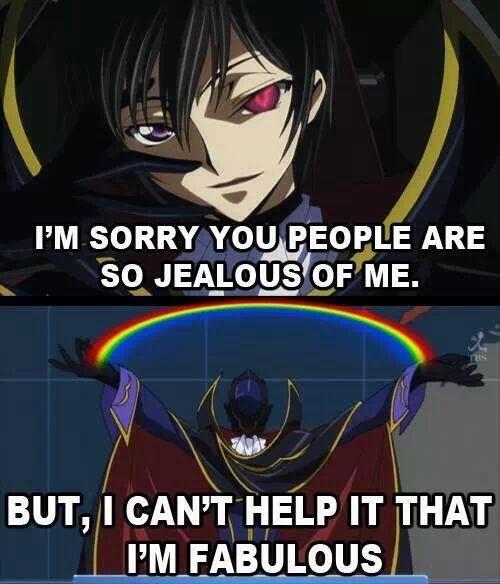 Funny Anime Meme Comics : Lelouch is fabulous deal with it manga anime