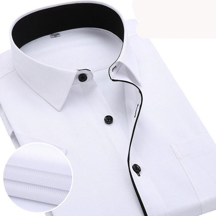 Striped Pattern Twill Fabric Regular Sleeve Formal Shirt For Men