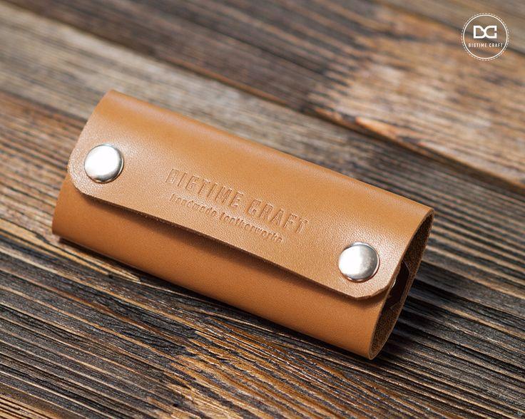 Beige leather key case case for keys leather key holder key