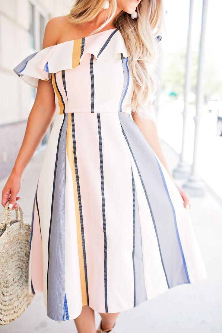 Ruffle Stripe Asos Dress // 10 Spring Dresses on a Budget