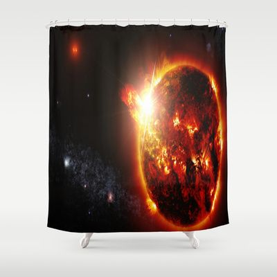 Galaxy Red Dwarf Star Shower Curtain Products Stars And Curtains