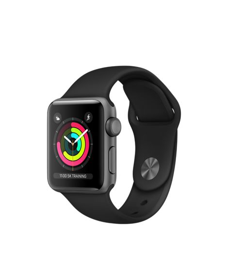 Apple Watch - Space Grey Aluminium Case with Black Sport Band - Apple (UK)