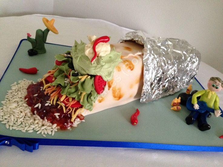 21st Birthday Cake Mexican Burrito Cake Adult Birthday