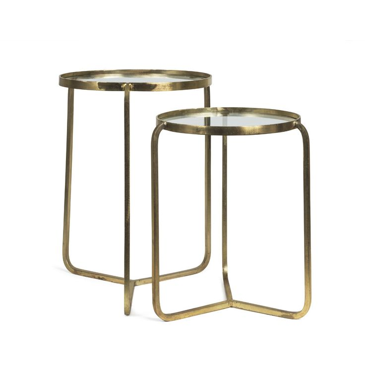 BRASS NEST SIDE TABLES