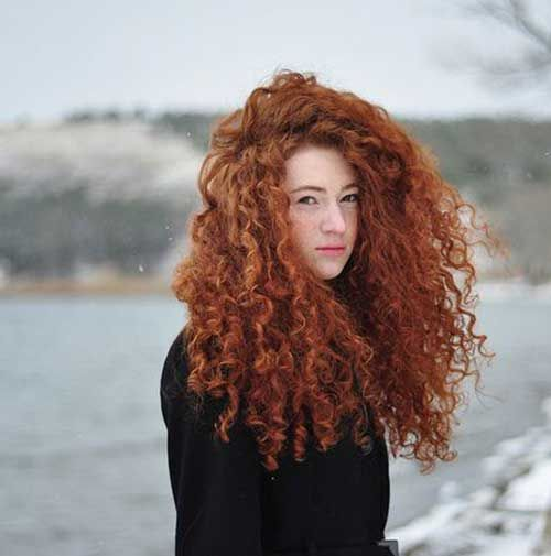 12.Long Red Curly Hairstyle