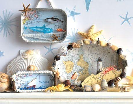 Martha Stewart has a few beach and Ocean Diorama ideas too, transforming sardine tins into adorable 3D mini worlds. So if you plan on making an ocean ...