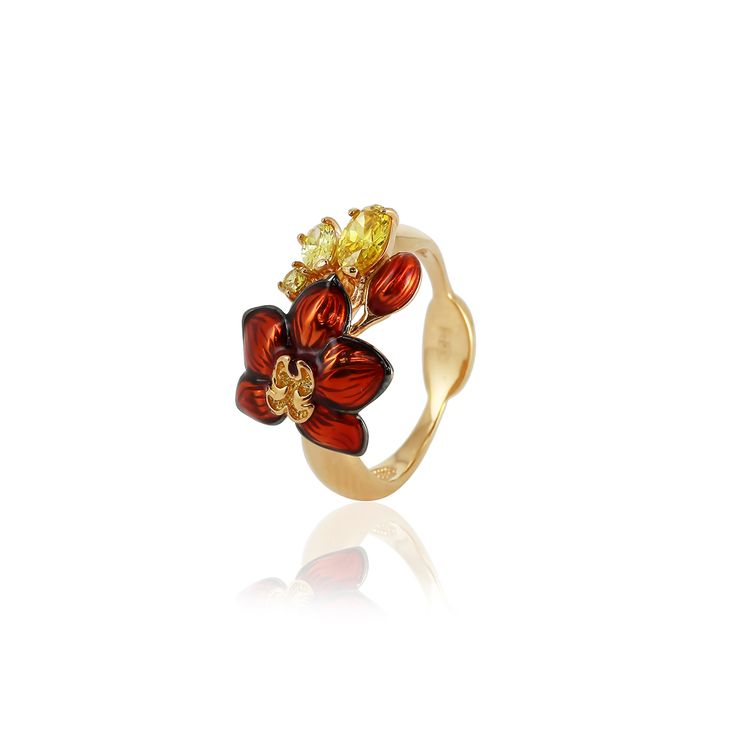 » Кольцо «Танец орхидеи»