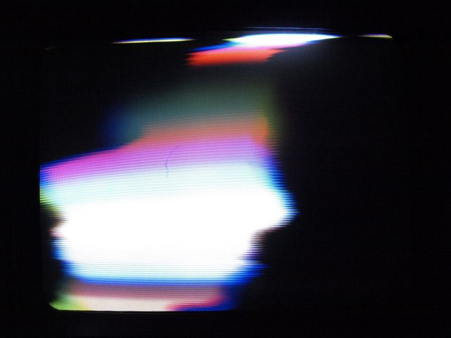"""""""Cracked Ray Tube is a collaborative realtime project by James Connolly and Kyle Evans that breaks and disrupts the interfaces of analog televisions and computer monitors to produce flashing, screeching, wobbulating, self-generated electronic noise and video."""""""