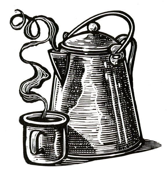 Cuppa Joe - Wood Engraving by Kenspeckle Letterpress