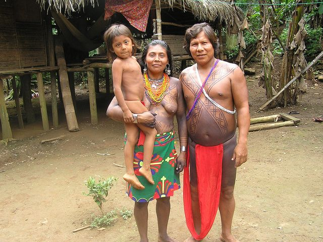 An Embera family, Chagres National Park, Panama   Flickr - Photo Sharing!