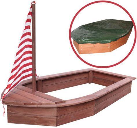 Elegant Sun Sandkasten Boot aus Holz Holzsandkasten Schiff Buddelkiste