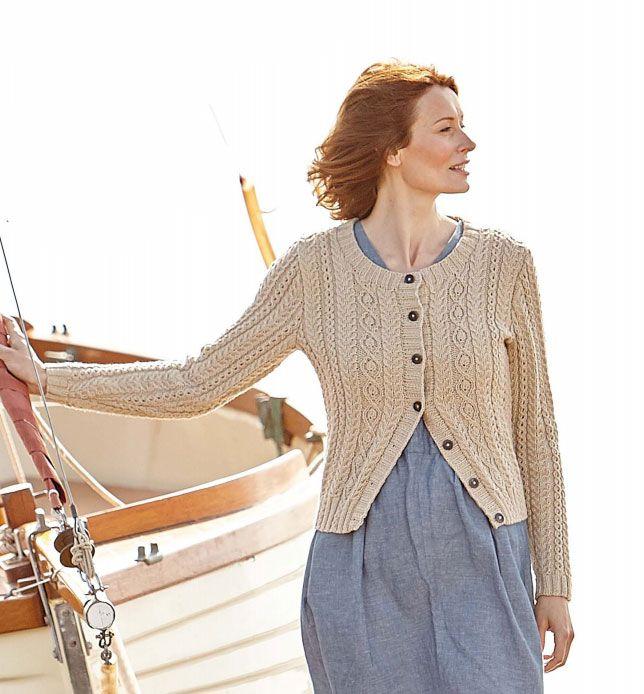 Fancy Ladies Aran Cardigan Knitting Patterns Free Component Easy