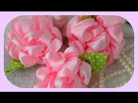 Como fazer flores de fita de cetim diferentes - YouTube