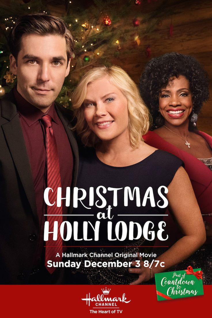 Christmas at Holly Lodge - Alison Sweeney stars in her first Countdown to Christmas movie, premiering December 10 on Hallmark Channel. #CountdownToChristmas #HallmarkChannel #ChristmasAtHollyLodge
