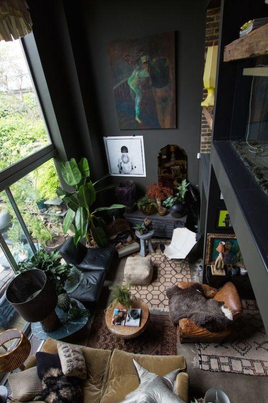 20+ Exotic Dark Living Room Design Ideas