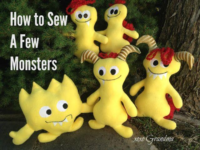 xoxo Grandma: How to Sew a Few Little Monsters