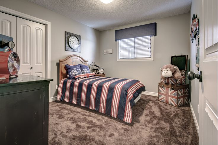 The perfect sized bedroom for little man of the house, with room to grow!