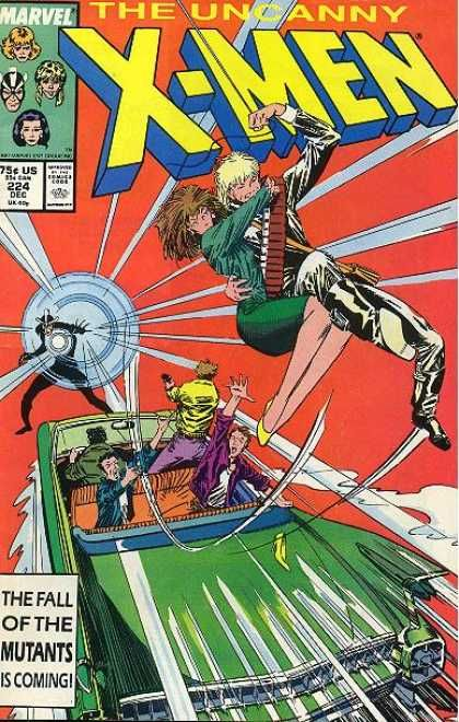longshot marvel | Uncanny X-Men 224 - Car - Havok - Longshot - Marvel Comics - Green ...