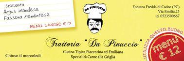 """La trattoria """"Da Pinuccio"""" offre un menu lavoro scontatissimo a € 12,00. Scopri i dettagli su www.ibuonidelborgo.it  #sconti #coupon #omaggio"""