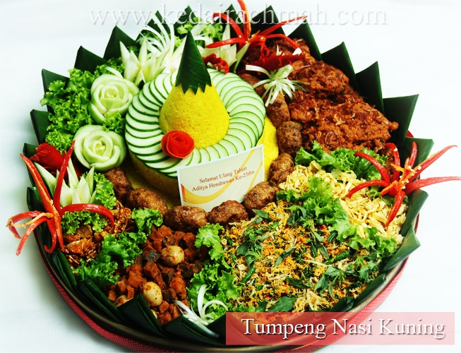 Tumpeng Nasi Kuning   One of Indonesian Traditional Food