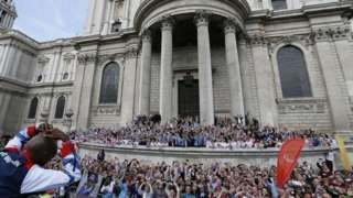 A victory parade for Team GB athletes at London 2012