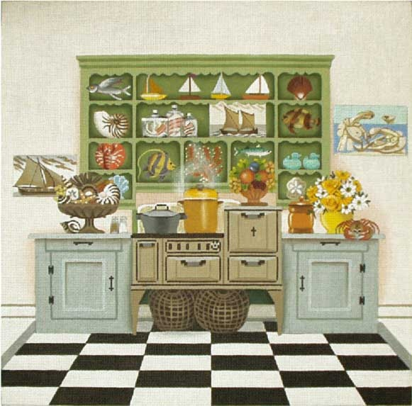 143 best images about needlepoint nautical on pinterest for Kitchen design 14x14