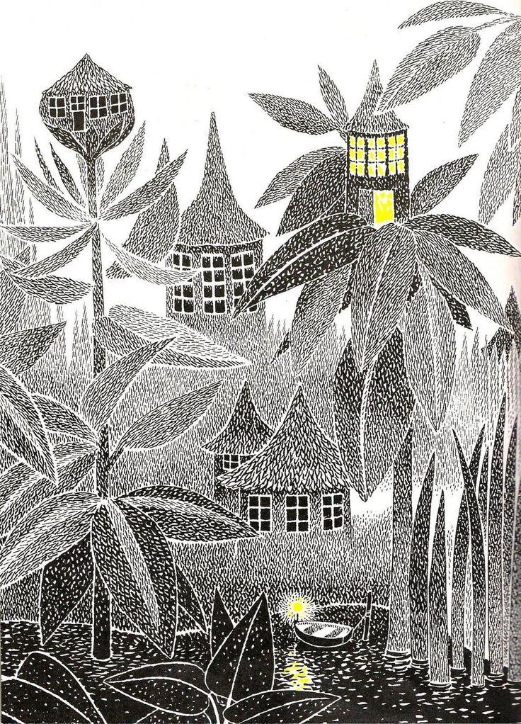 Men nästa morgon innan dagen grydde och dimman låg kring huset grå och kall stack knyttet ut en ängslig nos och gnydde - han hade klarat sig i alla fall - men ville hellre äta opp sin hatt än stanna kvar i huset nästa natt.