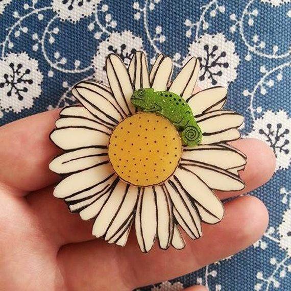 Baby Bloom Wearable Art Brooch by Winnifreds Daughter by WinnifredsDaughter on Etsy https://www.etsy.com/au/listing/493328115/baby-bloom-wearable-art-brooch-by