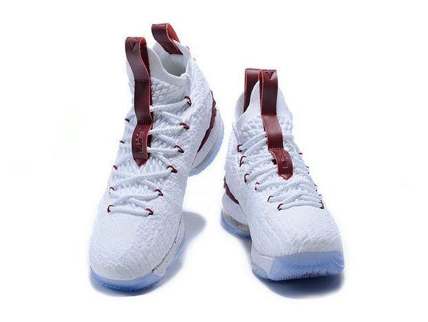 8db472c45db 2018 Nike Lebron 15 Rose Red Gold Basketball Shoes