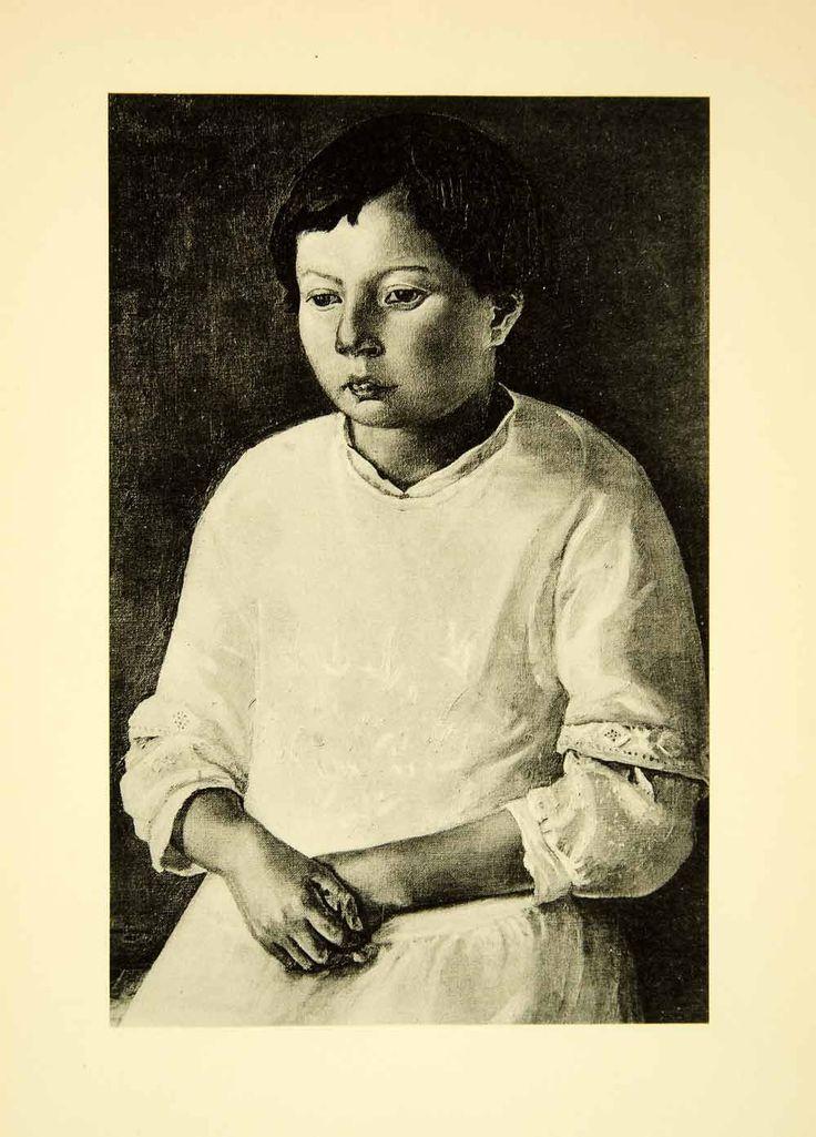 1931 Collotype Joan Manning-Sanders Bertha Louise Portrait Child Girl