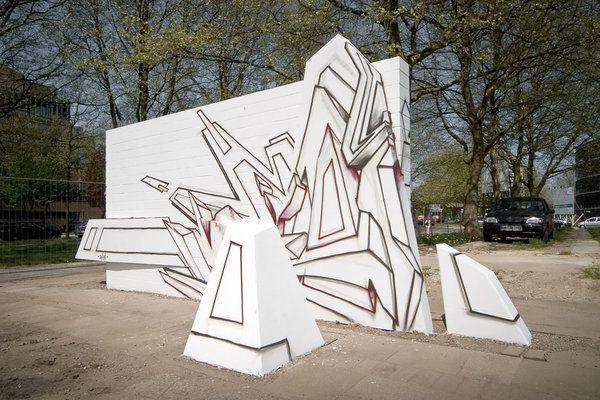 Making 3D DAIM Graffiti Sculpture by Mirko Reisser