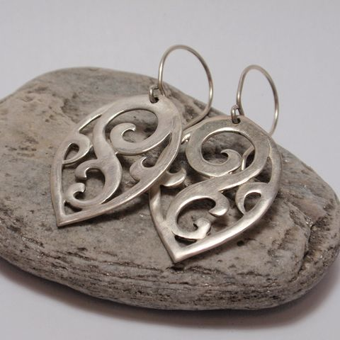 Silver Swirl Earrings – Unio Goldsmith