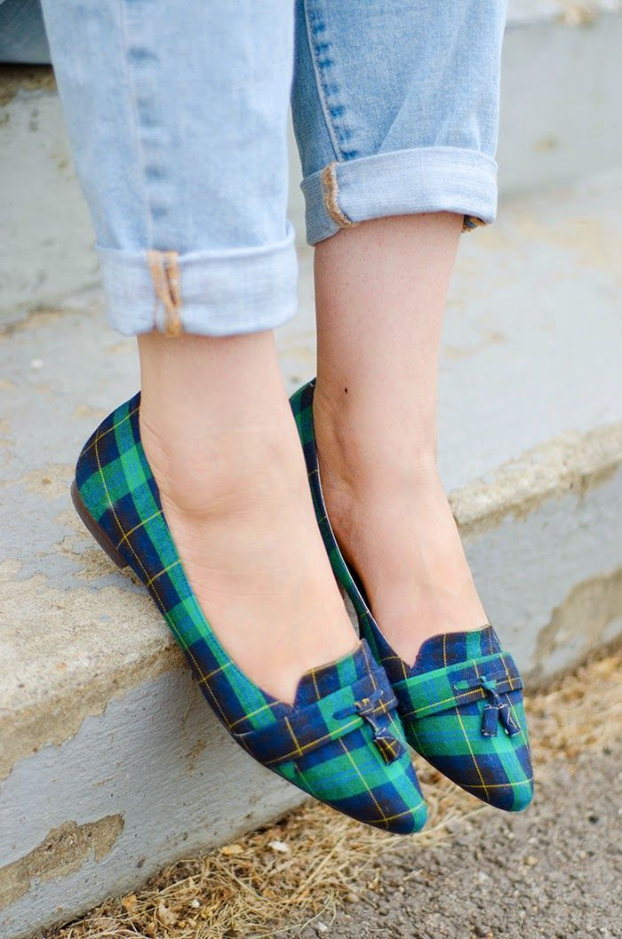 Plaid flats are a fall 2014 fashion trend staple