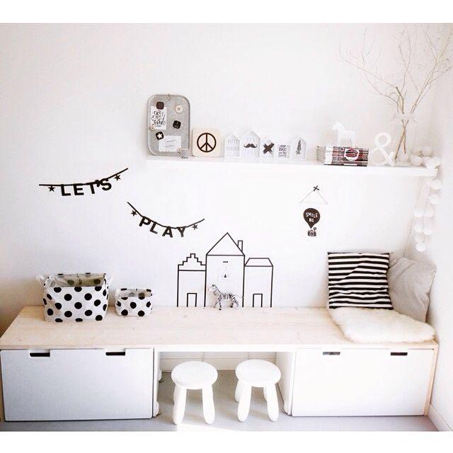 Ikea Stuva Bench 1 Item 3 Ways Kids Room Pinterest Playroom