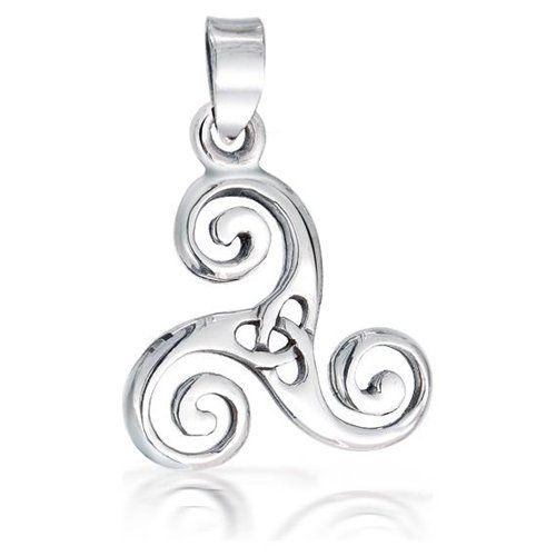 The Celtic Swirl Triskele/Trinity Knot. This Celtic pendant is a sign of