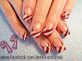 Candycanes- Christmas Nail Art