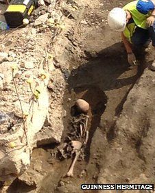 Skeleton found in archaeological dig in Gloucester