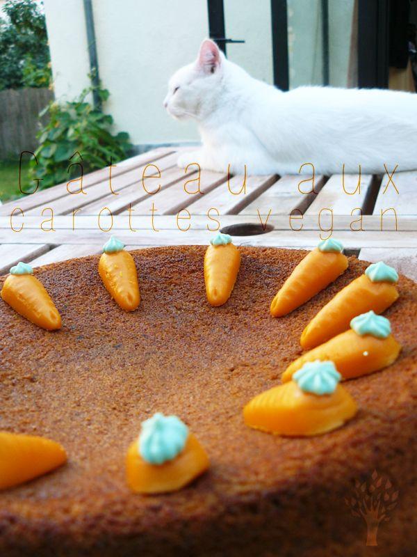 Recette gateau aux carottes vegan