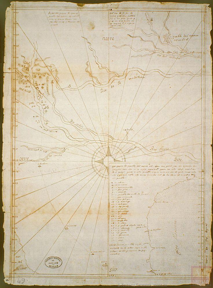 1602 Enrico Martinez Map of Nuevo Mexico