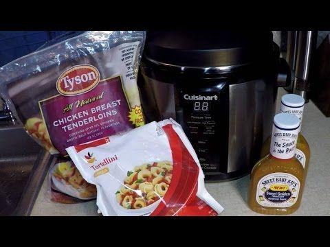Cuisinart Pressure Cooker Chicken Tortellini in Mustard Sauce - YouTube